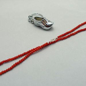 地中海天然沙丁珊瑚项链