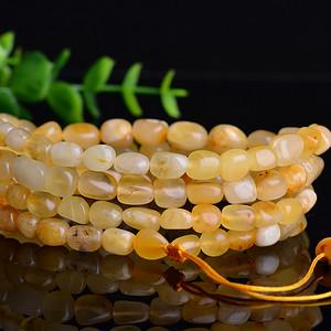 金牌 天然波罗的海蜜蜡随形108颗佛珠珠串