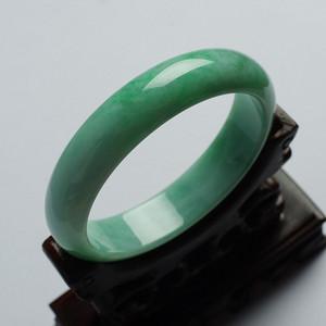 《金牌》翠绿翡翠正圈平安手镯 57mm  19TU05