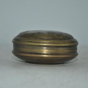永宜昌款铜印泥盒