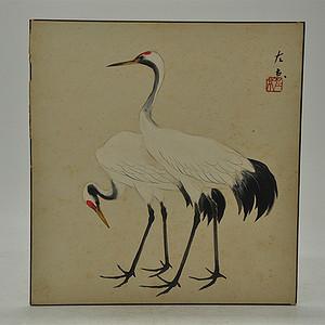 日本画仙鹤图