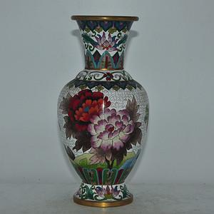 建国前后景泰蓝花瓶