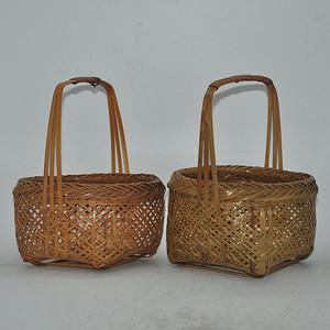 日本茶道竹笼两个