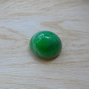 金牌 满绿翡翠大蛋面,阳绿翡翠戒面
