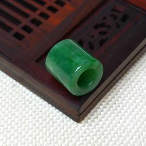 缅甸老坑A货翡翠冰种满绿平安柱吊坠
