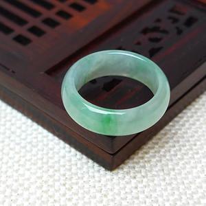 缅甸老坑A货翡翠冰种飘绿戒指