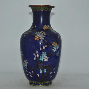 解放前后景泰蓝花瓶