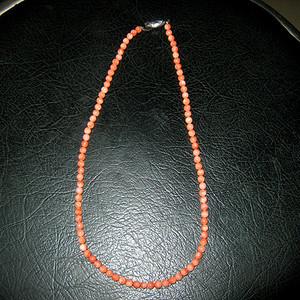 回流红珊瑚项链