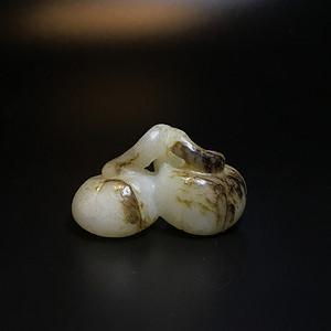 精品 明代和田白玉提油福瓜