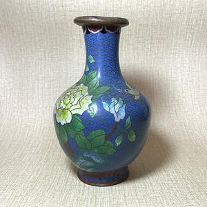 回流精品 清晚期景泰蓝花瓶一只