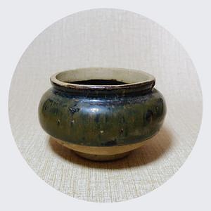 精品瓷 宋代乌金釉小罐一只