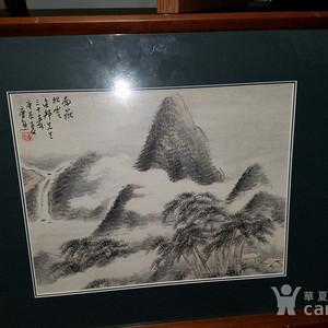 金牌 近代海上名家唐熊: 1940年 精品山水画