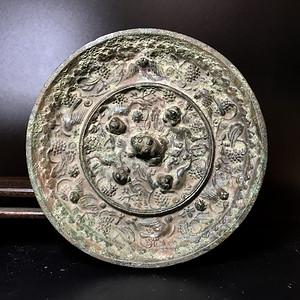 珍品收藏级 海兽葡萄镜