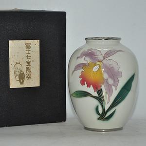 日本富士七宝烧花瓶