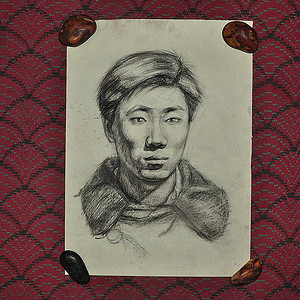 素描肖像画