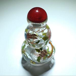 金牌 琉璃 喜鹊登梅 鼻烟壶 手工制作 绘制 包浆老厚