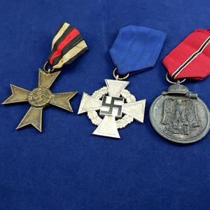 金牌 二战勋章三枚
