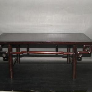 造型独特老红木小炕桌,底座