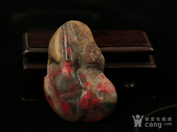 昌化鸡血第一等 大红袍 挂件图4