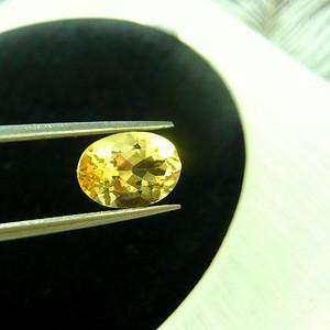金牌 天然金黄色大克拉海蓝宝石 漂亮金黄色