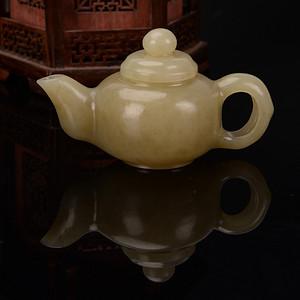 欧洲回流和田玉茶壶