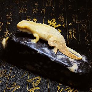 天然寿山石手工精雕今非昔比步步高升蜥蜴案头摆件!赠送证书