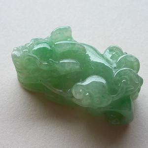 A货翡翠冰糯种满绿貔貅25.54g