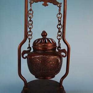 清末回流老物件纯紫铜熏香吊炉