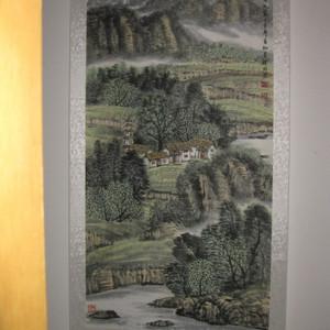 中国美协会员,广东画家袁景杰山水。四尺整张