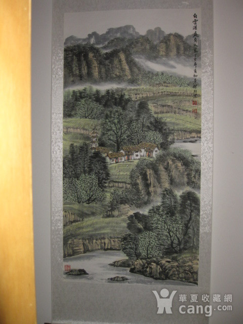 中国美协会员,广东画家袁景杰山水。四尺整张图1