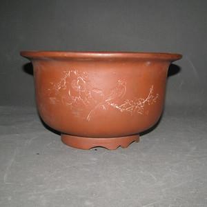 文革陶工款紫砂盆