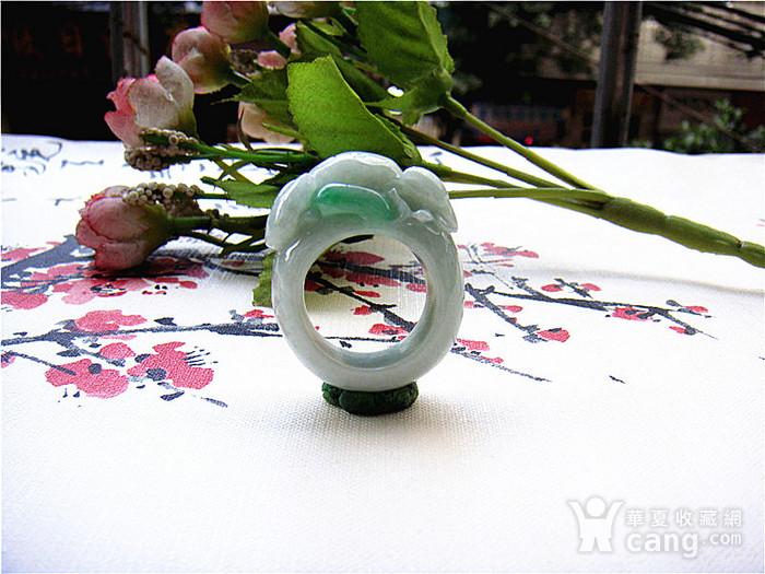 证  鼠来宝阳绿翡翠戒指图1