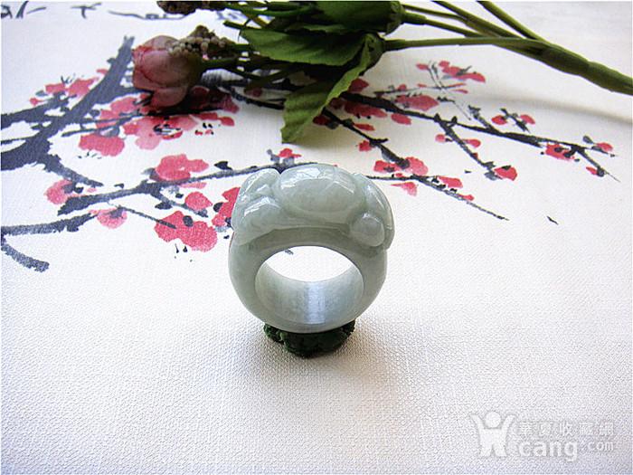 证  鼠来宝阳绿翡翠戒指图2