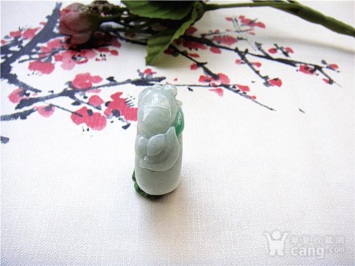 证  鼠来宝阳绿翡翠戒指图4