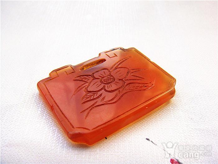 雅   红玛瑙花卉锁片图3