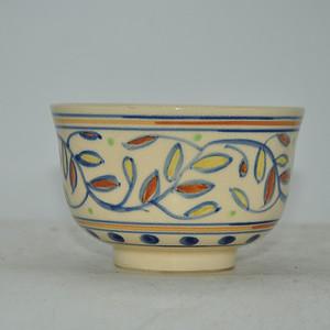 日本靖字款粉彩瓷碗