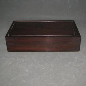 玻璃包浆老红木文房盒