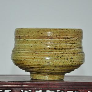 日本绿釉瓷碗