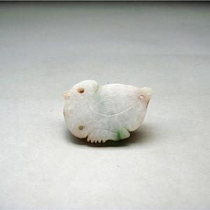 清  春代彩翡翠鸭鸭帽正