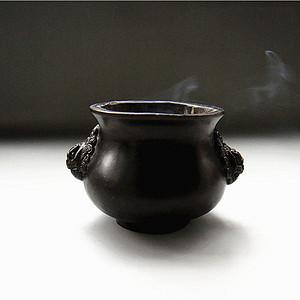铜  瑞兽琴炉小香炉