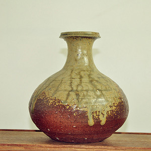 日本花道備前烧花瓶
