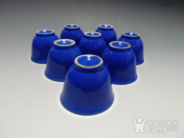 民国蓝釉小杯8个图4