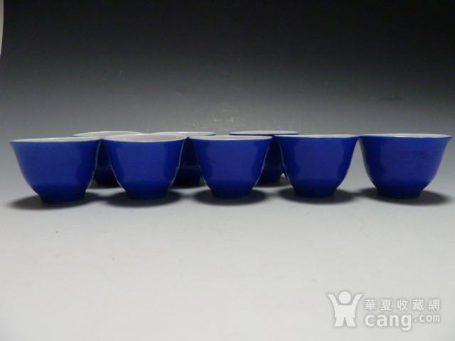 民国蓝釉小杯8个图9