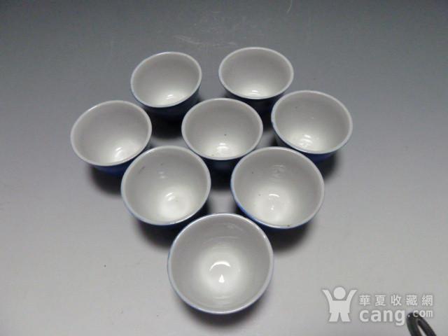 民国蓝釉小杯8个图8