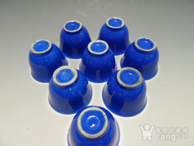民国蓝釉小杯8个图5
