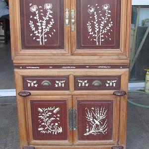 花梨木老书柜一套