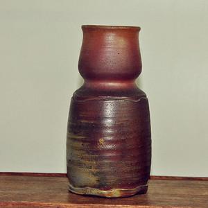 日本一乐款備前烧花瓶
