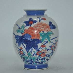 50年左右日本粉彩花瓶