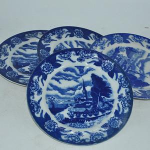 日本青花瓷碟四个