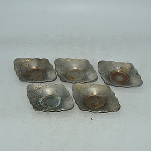 日本茶道锡器托盘5个